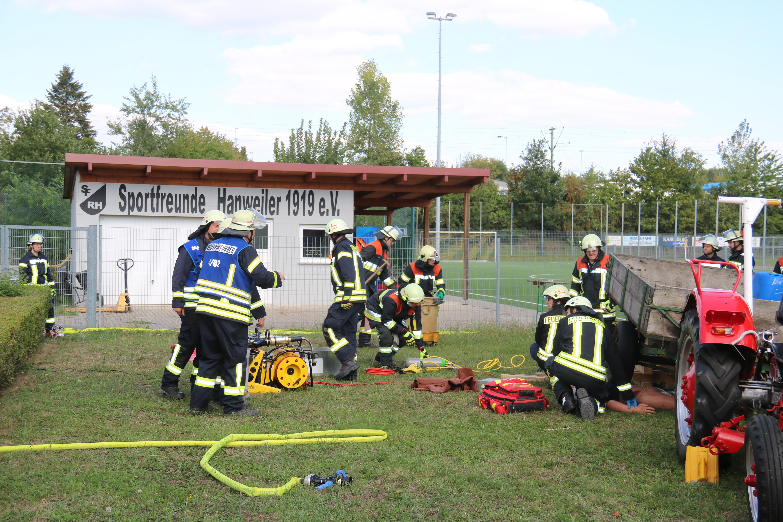 Tag der offenen Tür Feuerwehr Hanweiler 2018 Übung (22)